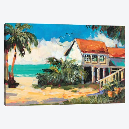 Tropical Getaway Canvas Print #JSL93} by Jane Slivka Canvas Art