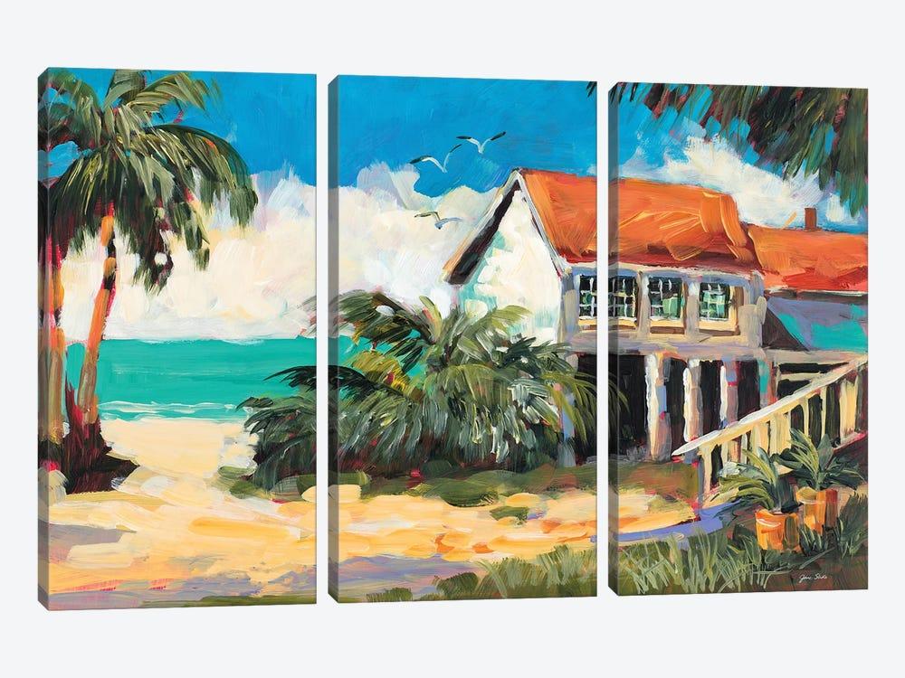 Tropical Getaway by Jane Slivka 3-piece Canvas Print