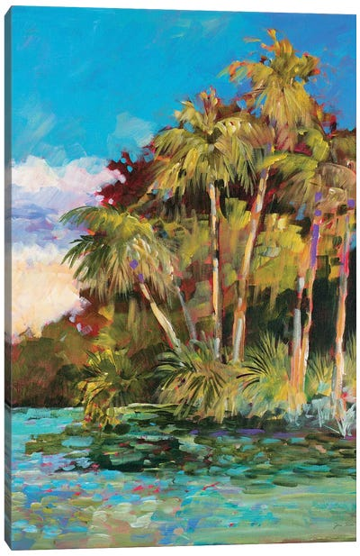 Tropical Side of Town Canvas Art Print