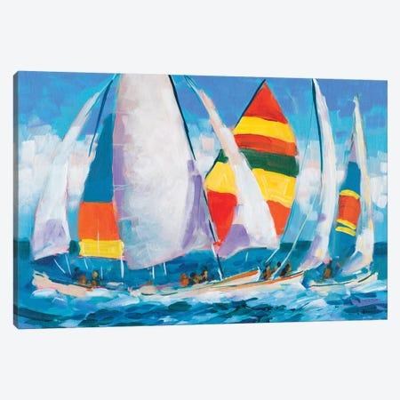 Wide Sails Canvas Print #JSL95} by Jane Slivka Art Print