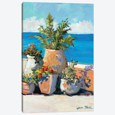 Coastal Greenery Canvas Print #JSL97} by Jane Slivka Canvas Art Print