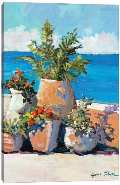 Coastal Greenery Canvas Art Print