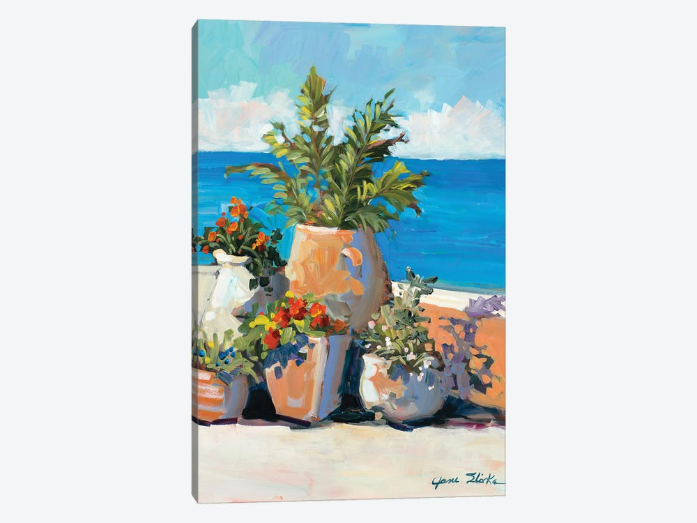 Coastal Greenery by Jane Slivka 1-piece Canvas Print