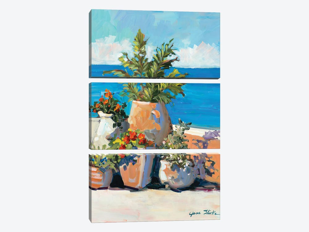 Coastal Greenery by Jane Slivka 3-piece Canvas Print