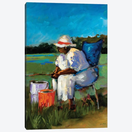 Fishing Again Canvas Print #JSL98} by Jane Slivka Canvas Artwork