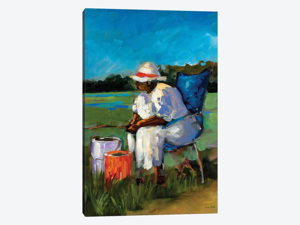 Fishing Again by Jane Slivka 1-piece Canvas Art