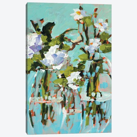 Flowers In Vase Canvas Print #JSL99} by Jane Slivka Canvas Art