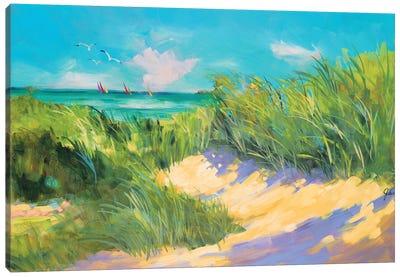 Blue Grass Breeze I Canvas Art Print