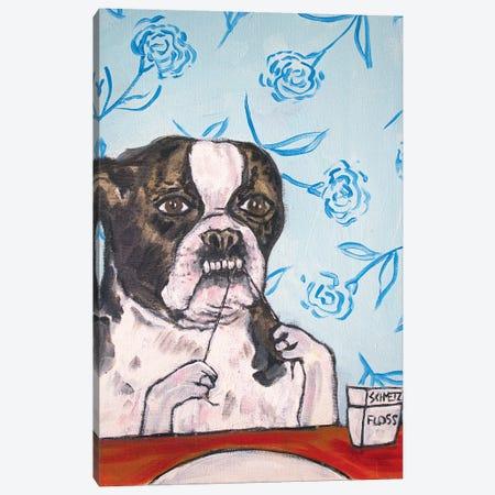 Boston Terrier Floss 3-Piece Canvas #JSM12} by Jay Schmetz Art Print