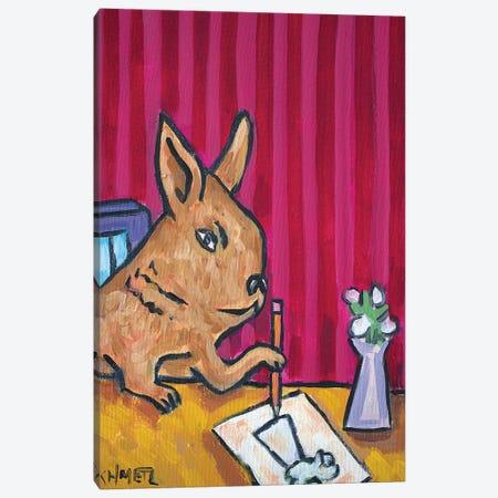 Bunny Artist Canvas Print #JSM18} by Jay Schmetz Canvas Art Print