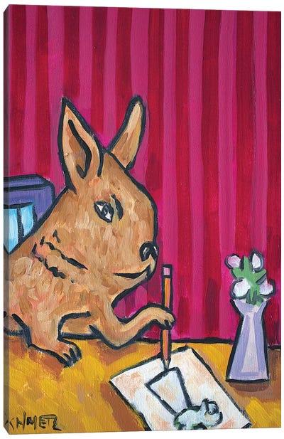 Bunny Artist Canvas Art Print
