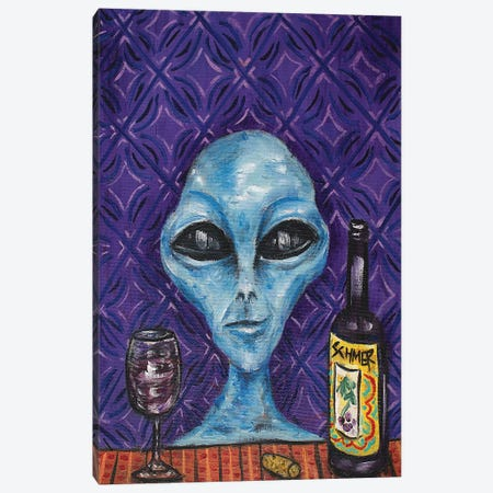 Alien Wine Canvas Print #JSM1} by Jay Schmetz Art Print