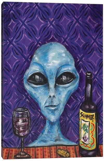Alien Wine Canvas Art Print