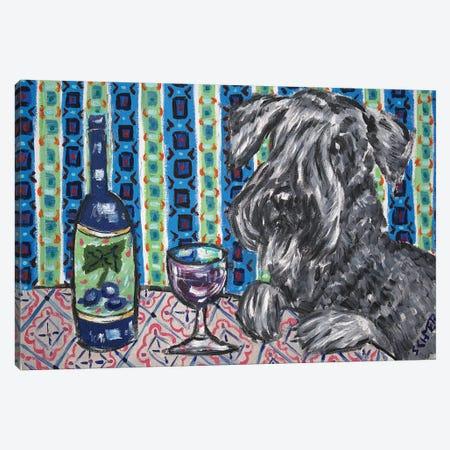Ceski Terrier Wine 3-Piece Canvas #JSM20} by Jay Schmetz Canvas Art
