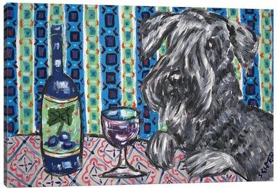 Ceski Terrier Wine Canvas Art Print