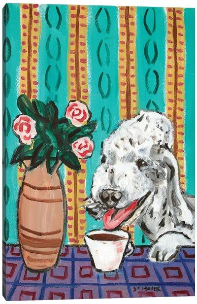 Dandie Dinmont Coffee Canvas Art Print