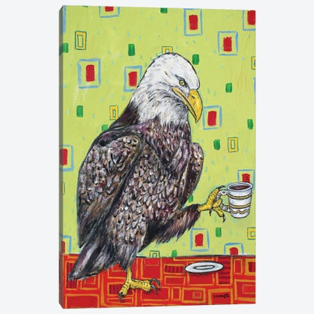 Eagle Coffee 3-Piece Canvas #JSM27} by Jay Schmetz Canvas Print