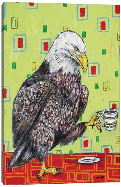 Eagle Coffee Canvas Art Print