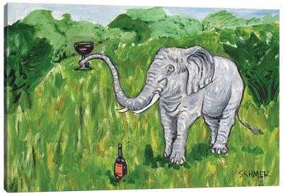 Elephant Wine Canvas Art Print