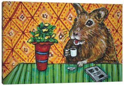 Gerbil Coffee Canvas Art Print