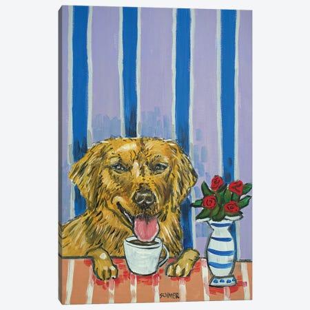 Golden Retriever Coffee 3-Piece Canvas #JSM32} by Jay Schmetz Canvas Print