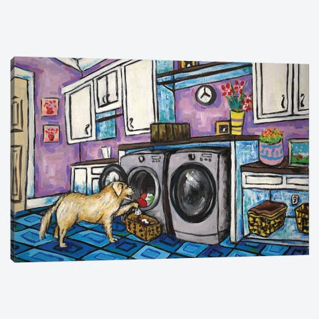 Golden Retriever Laundry Canvas Print #JSM33} by Jay Schmetz Canvas Art Print