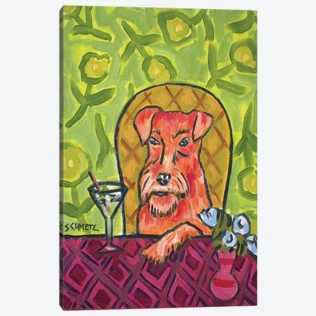 Irish Terrier Martini Canvas Print #JSM36} by Jay Schmetz Canvas Artwork