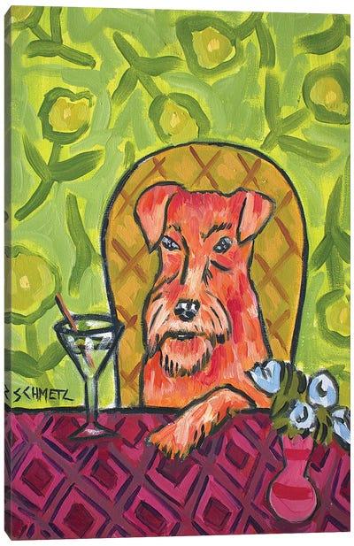 Irish Terrier Martini Canvas Art Print