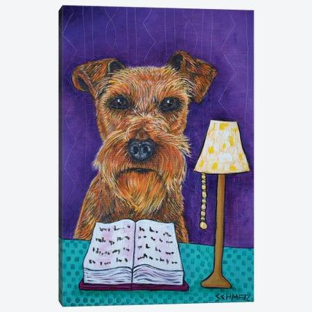 Irish Terrier Reading 3-Piece Canvas #JSM37} by Jay Schmetz Canvas Art