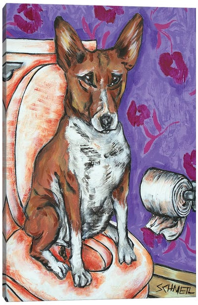 Basenji #2 Canvas Art Print