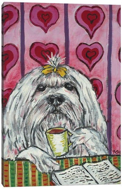 Maltese Coffee Canvas Art Print