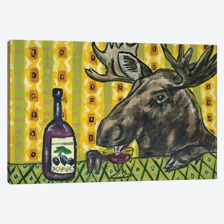Moose Wine Canvas Print #JSM45} by Jay Schmetz Canvas Art Print