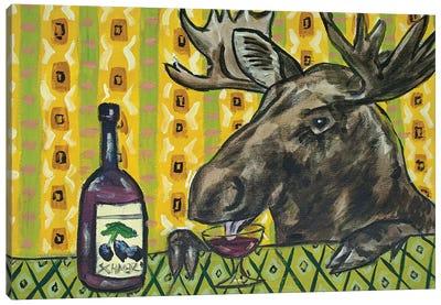 Moose Wine Canvas Art Print