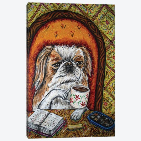 Pekingese Coffee 3-Piece Canvas #JSM46} by Jay Schmetz Canvas Art Print