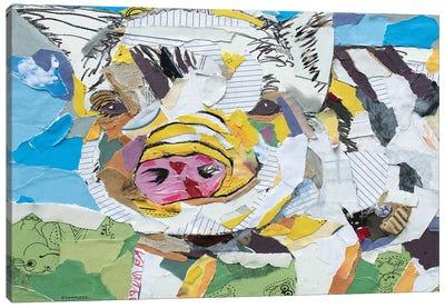 Pig Collage Canvas Art Print