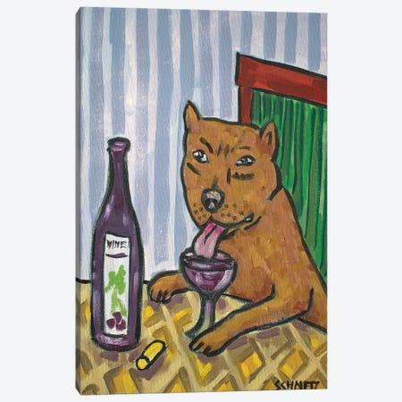 Pitbull Wine 3-Piece Canvas #JSM49} by Jay Schmetz Canvas Artwork