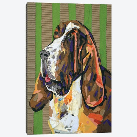 Basset Hound Collage Canvas Print #JSM4} by Jay Schmetz Canvas Art