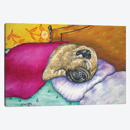 Pug Sleep Couch Canvas Print #JSM53} by Jay Schmetz Canvas Print