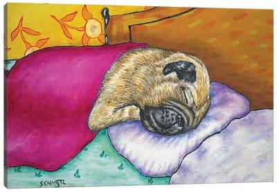 Pug Sleep Couch Canvas Art Print