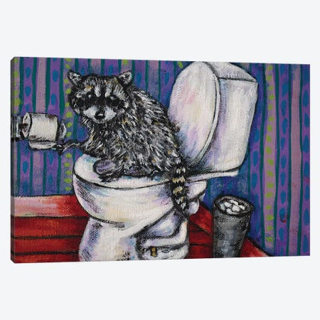Raccoon #2 Canvas Print #JSM57} by Jay Schmetz Canvas Artwork