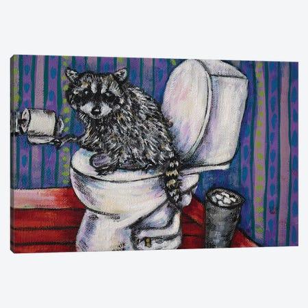 Raccoon #2 Canvas Print #JSM57} by Jay Schmetz Canvas Artwork