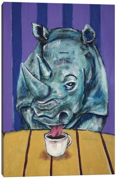 Rhino Coffee Canvas Art Print