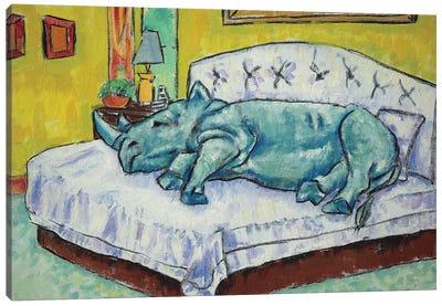 Rhino Sleeping Canvas Art Print