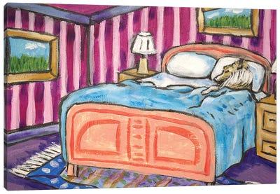 Shetland Sheepdog Sleeping Canvas Art Print