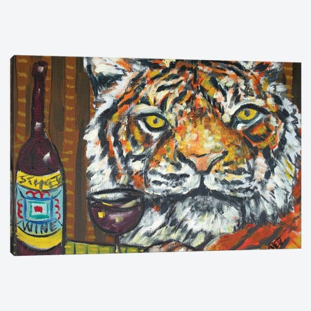 Tiger Wine Canvas Print #JSM65} by Jay Schmetz Canvas Print