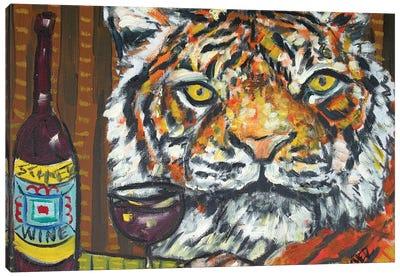 Tiger Wine Canvas Art Print