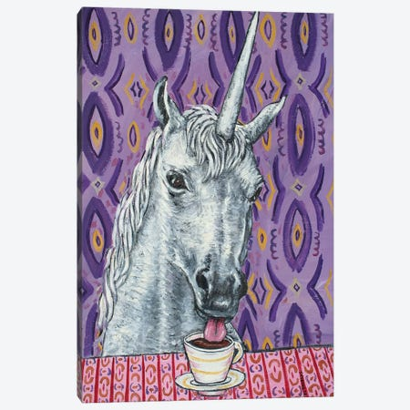 Unicorn Coffee Canvas Print #JSM68} by Jay Schmetz Canvas Wall Art