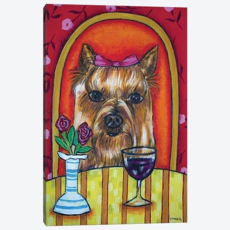 Yorkie Wine 3-Piece Canvas #JSM69} by Jay Schmetz Canvas Wall Art