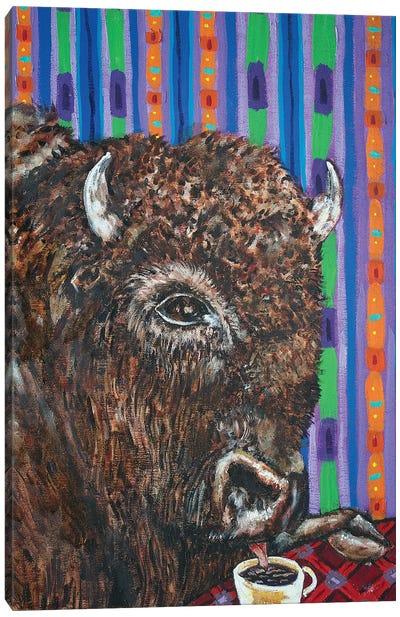 Bison Coffee Canvas Art Print