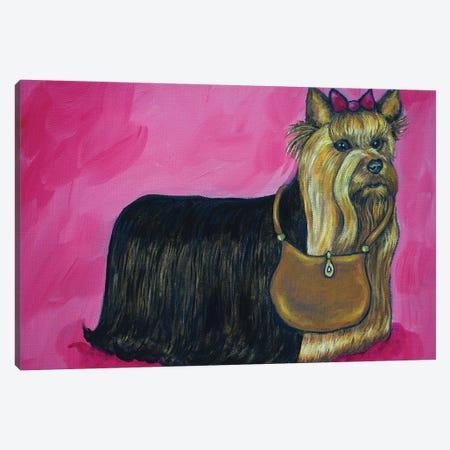 Yorkie Purse 3-Piece Canvas #JSM70} by Jay Schmetz Art Print